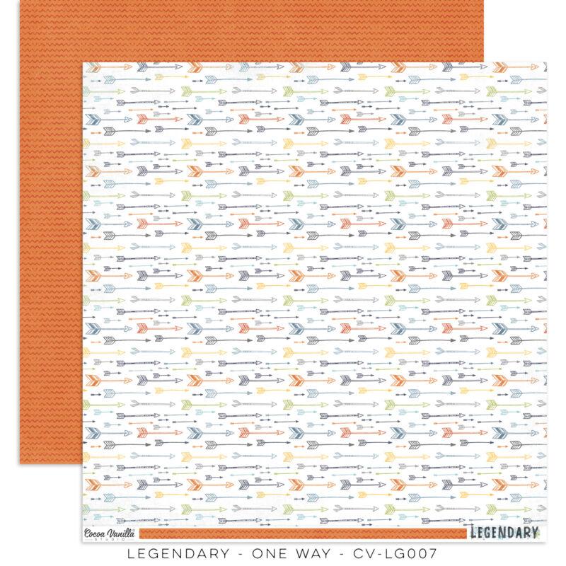 Cocoa Vanilla Studio - Legendary 12x12 Paper - One Way