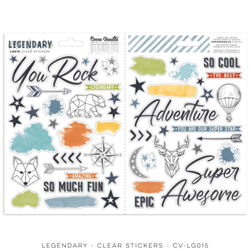 Cocoa Vanilla Studio - Legendary Clear Stickers