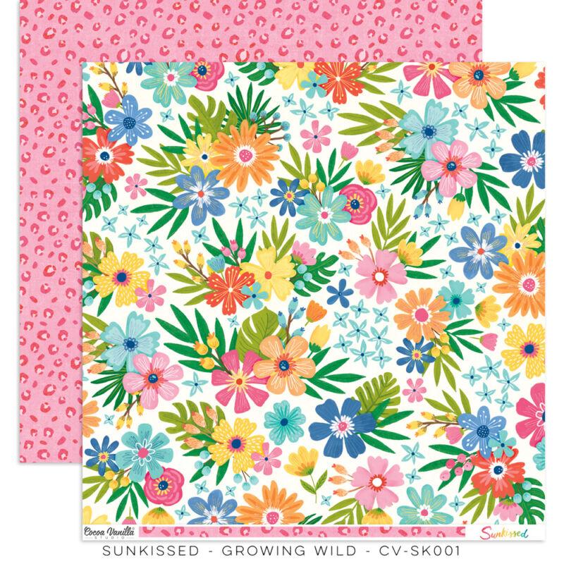Cocoa Vanilla Studio - Sunkissed 12x12 Paper -Growing Wild