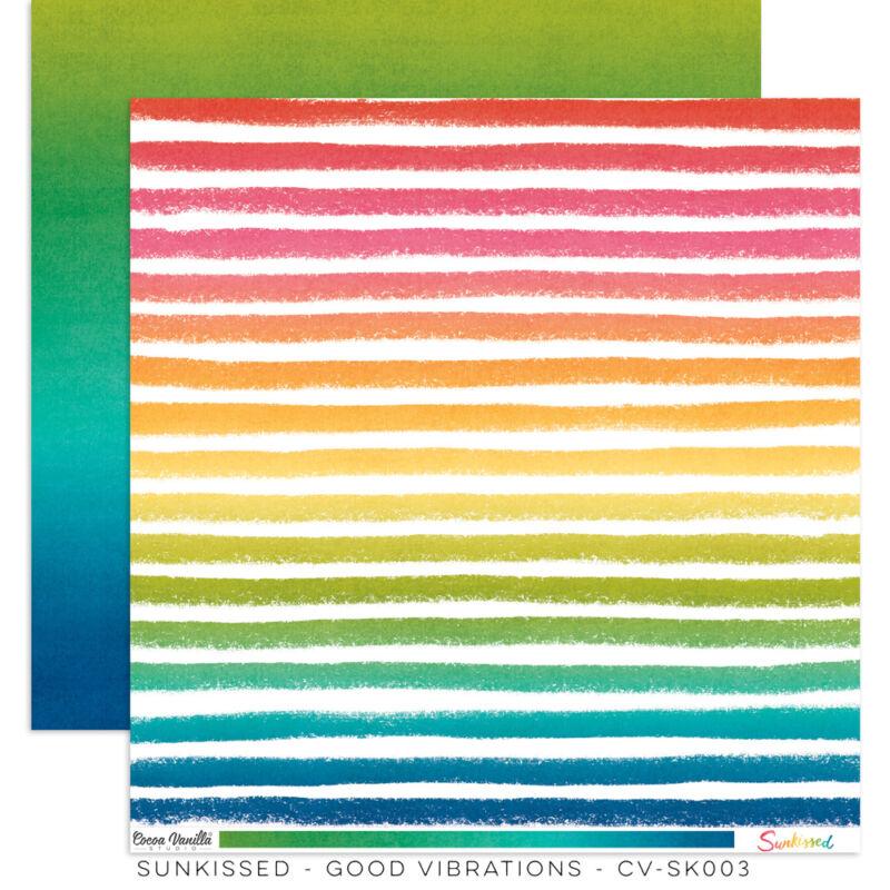 Cocoa Vanilla Studio - Sunkissed 12x12 Paper - Good Vibrations