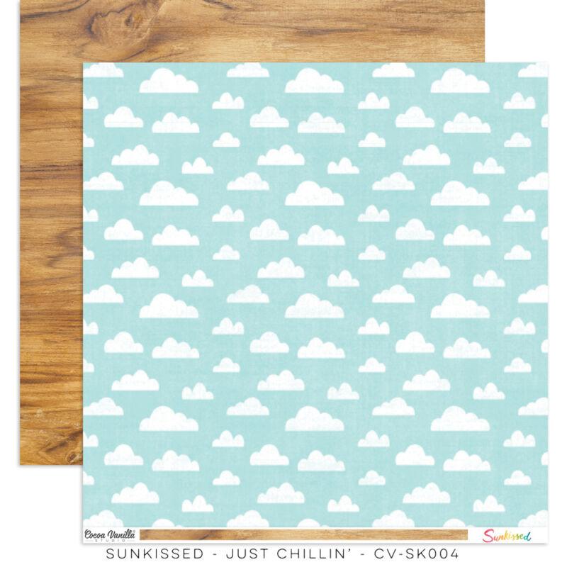 Cocoa Vanilla Studio - Sunkissed 12x12 Paper - Just Chillin'