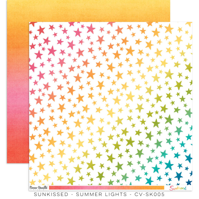 Cocoa Vanilla Studio - Sunkissed 12x12 Paper - Summer Lights