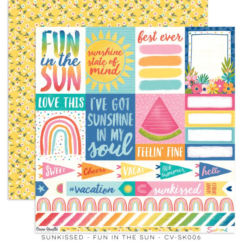 Cocoa Vanilla Studio - Sunkissed 12x12 Paper - Fun In The Sun