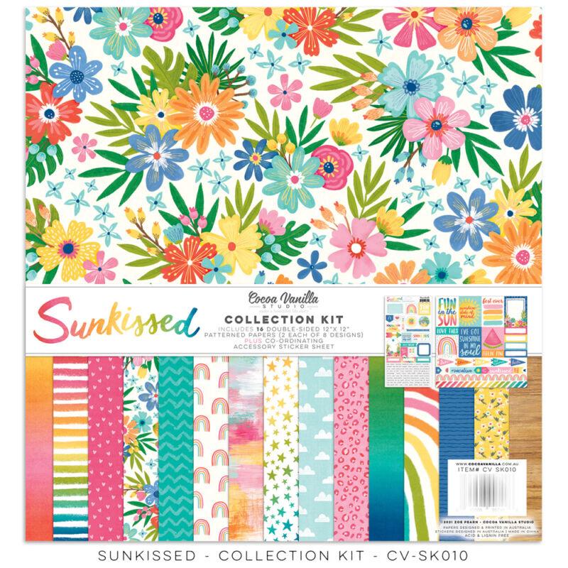 Cocoa Vanilla Studio - Sunkissed 12x12 Paper Collection Kit