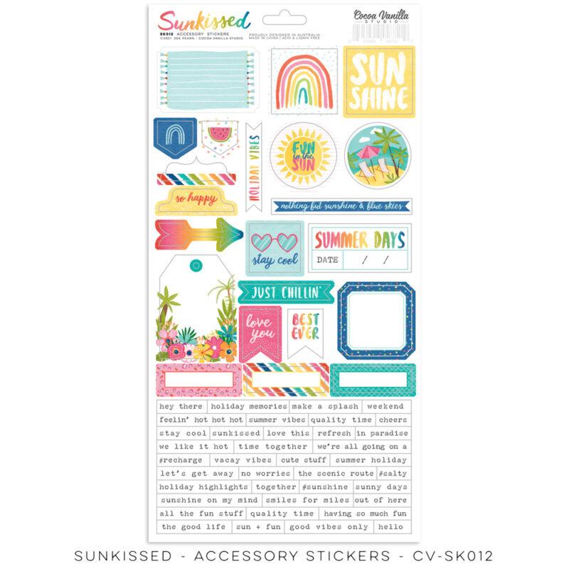 Cocoa Vanilla Studio - Sunkissed 6x12 Accessory Stickers