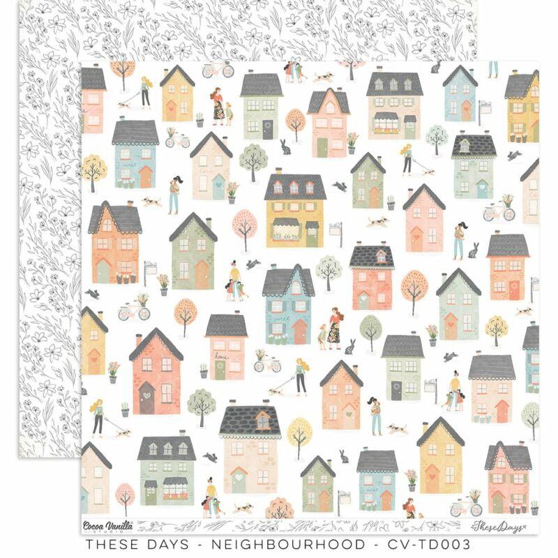 Cocoa Vanilla Studio - These Days 12x12 Paper - Neighbourhood