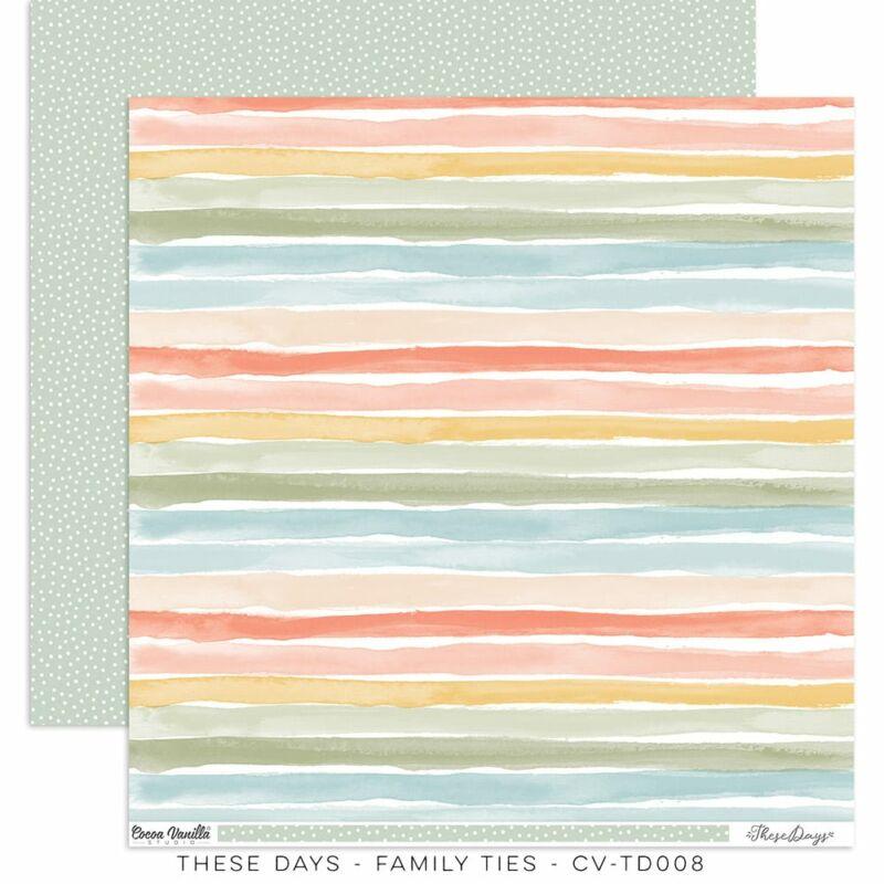 Cocoa Vanilla Studio - These Days 12x12 Paper - Family Ties