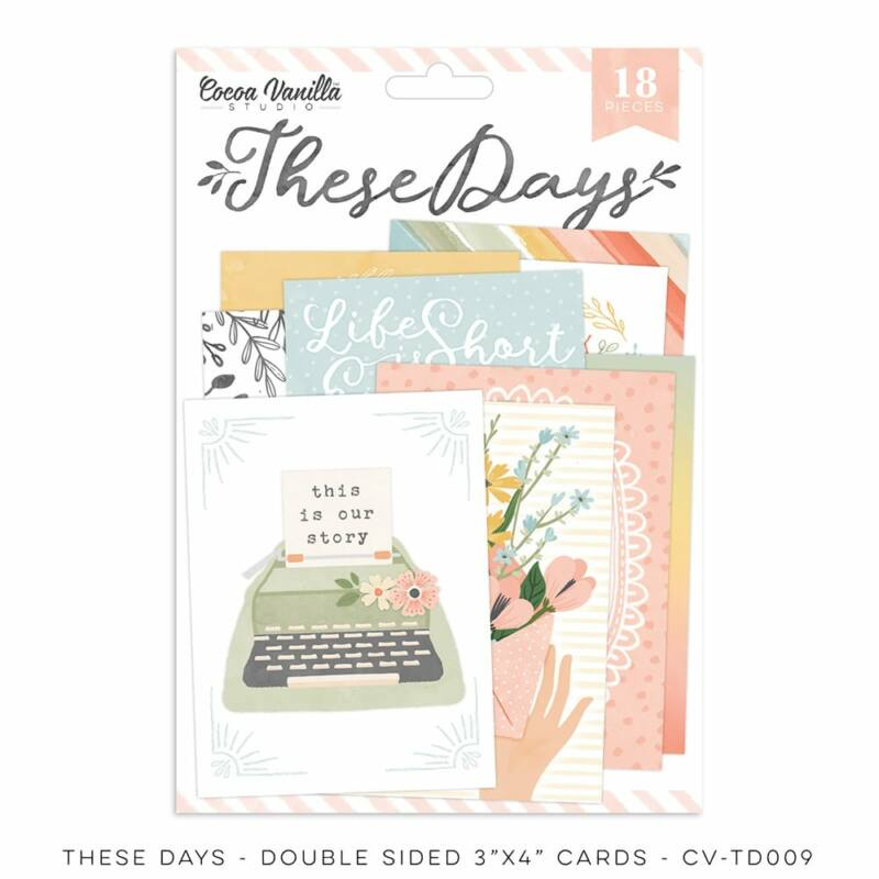 Cocoa Vanilla Studio - These Days 3x4 Double-Sided Pocket Cards