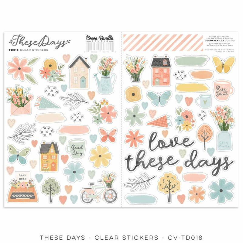 Cocoa Vanilla Studio - These Days Clear Sticker