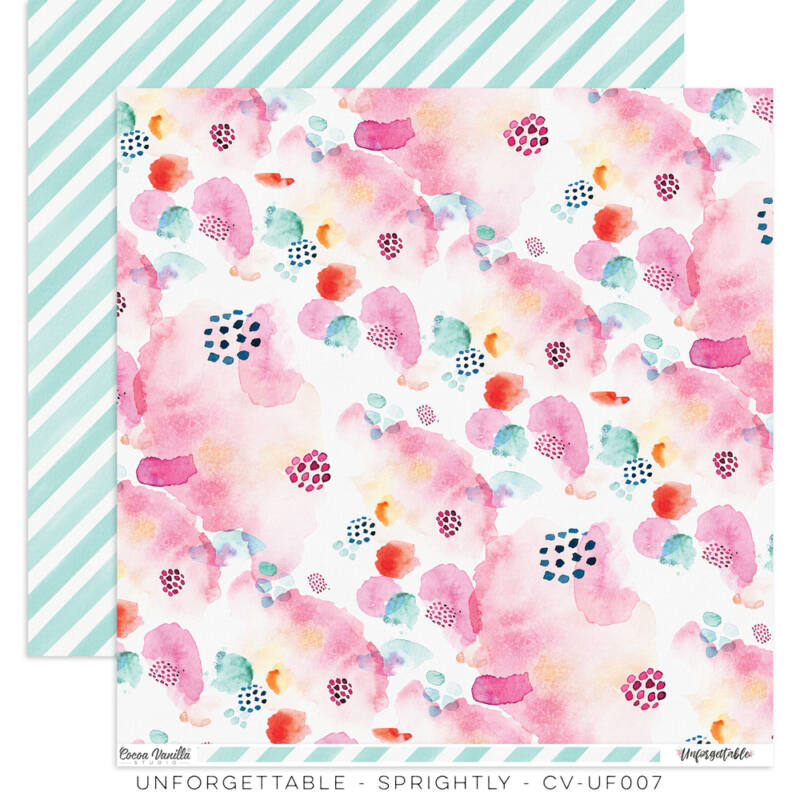 Cocoa Vanilla Studio - Unforgettable 12x12 Paper - Sprightly