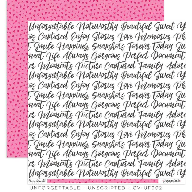 Cocoa Vanilla Studio - Unforgettable 12x12 Paper - Unscripted