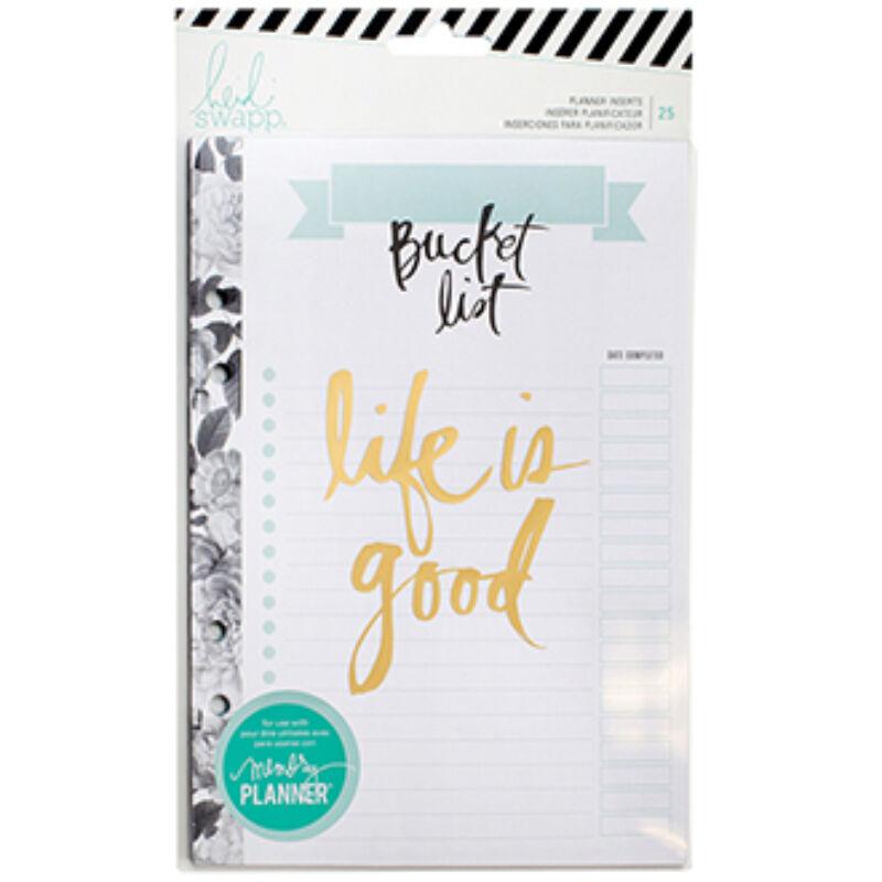 Heidi Swapp - Memory Planner 2017 - Planner Inserts - Large - Bucket List