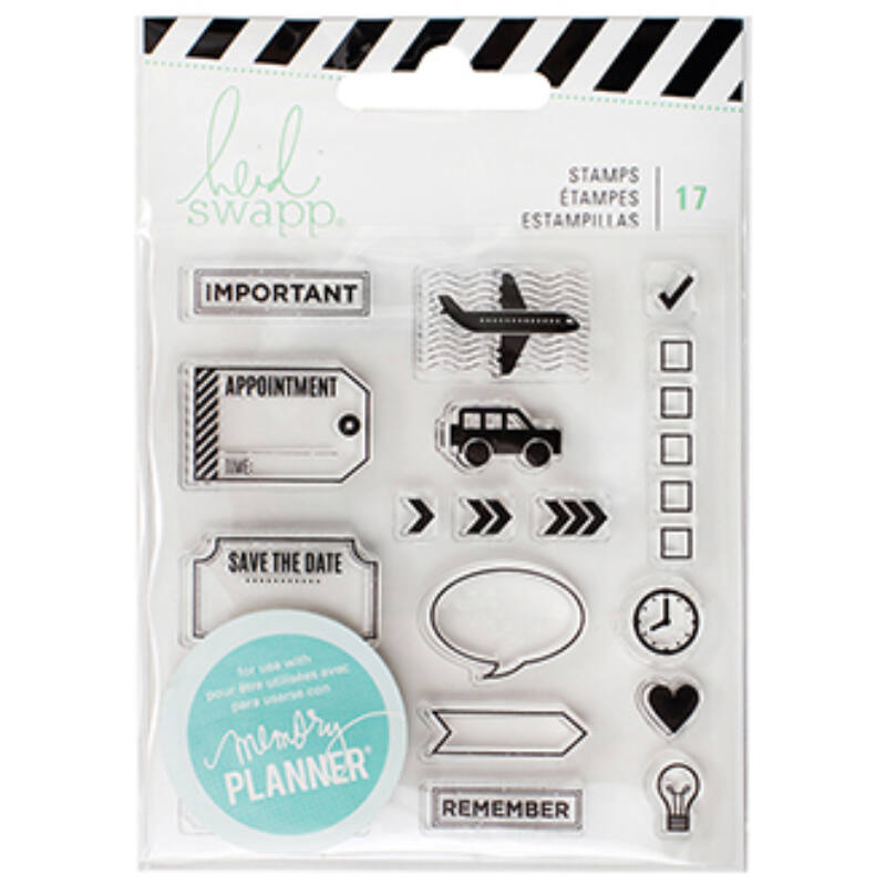 Heidi Swapp - Memory Planner 2017 - Clear Stamps Icons