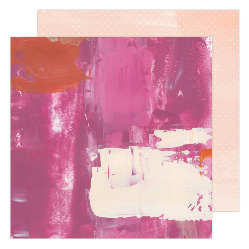 Heidi Swapp - Art Walk 12x12 Paper - Pinks