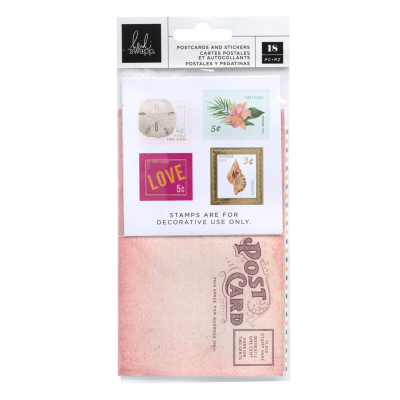 Heidi Swapp - Art Walk Postcards and Stamps (18 Piece)
