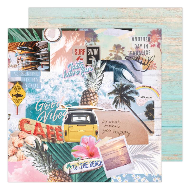 Heidi Swapp - CareFree 12x12 Paper - High Tide