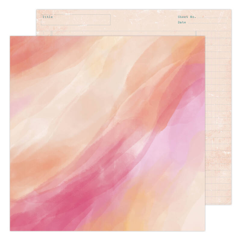 Heidi Swapp - CareFree 12x12 Paper - Sunset