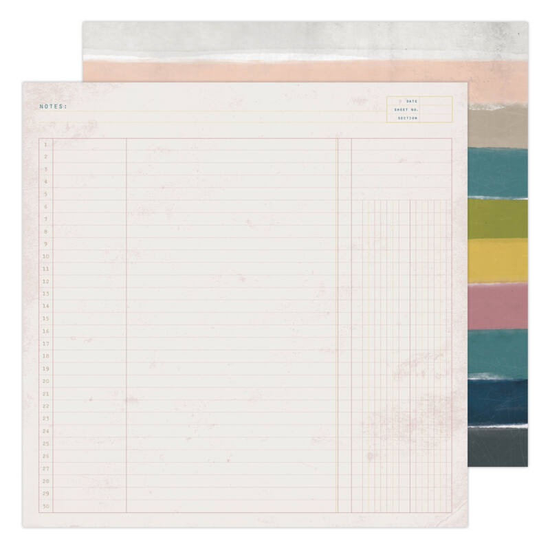 Heidi Swapp - CareFree 12x12 Paper - Trail Guide