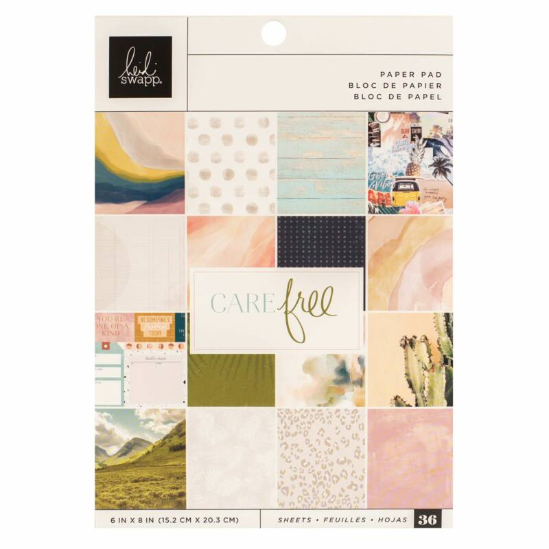 Heidi Swapp - CareFree 6x8 Paper Pad (36 Sheets)