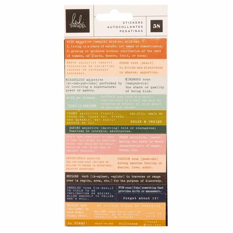 Heidi Swapp - CareFree Definition Sticker (58 Stickers)