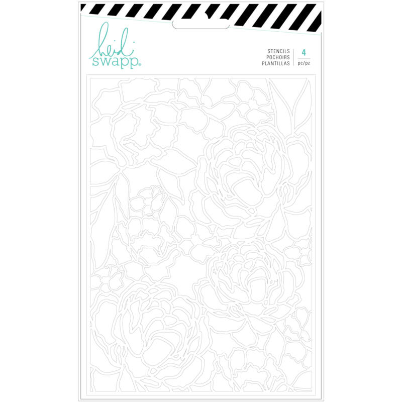 Heidi Swapp - Emerson Lane - izrezki iz papirja Florals (4 kosi)