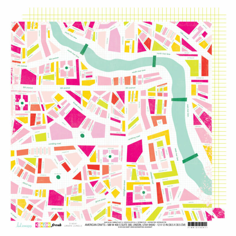 Heidi Swapp - Color Fresh 12x12 Patterned Paper - Urban Jungle