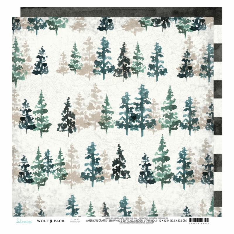 Heidi Swapp - Wolf Pack 12x12 scrapbook papír - Woodsy