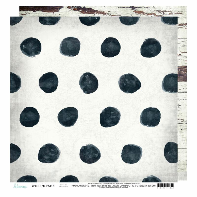 Heidi Swapp - Wolf Pack 12x12 scrapbook papír - Spotted