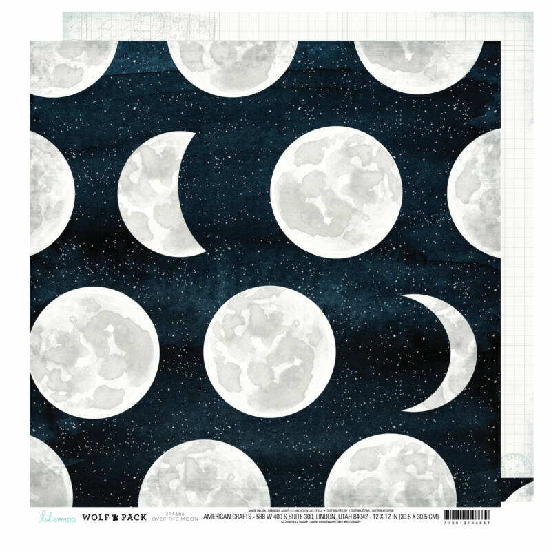 Heidi Swapp - Wolf Pack 12x12 Patterned Paper - Over The Moon