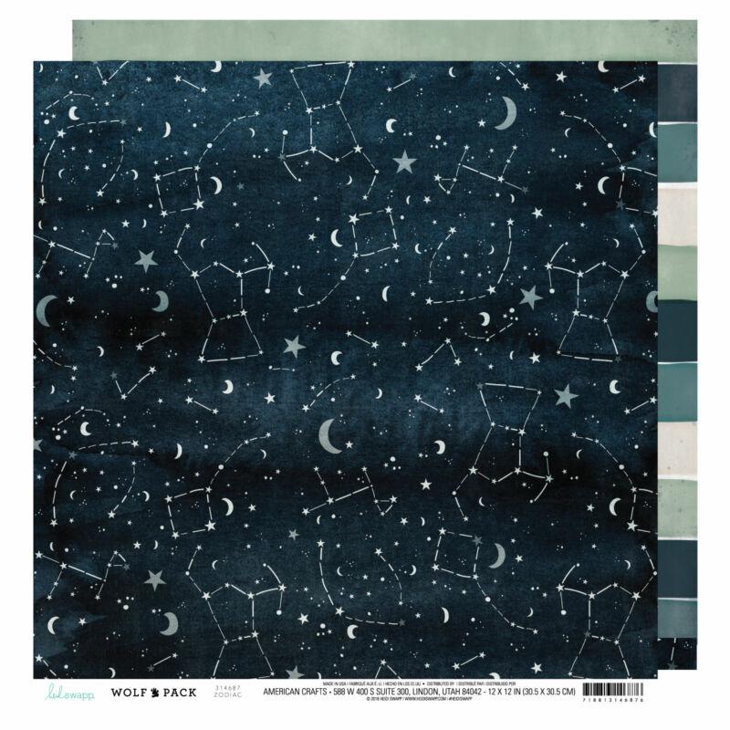 Heidi Swapp - Wolf Pack 12x12 Patterned Paper - Zodiac