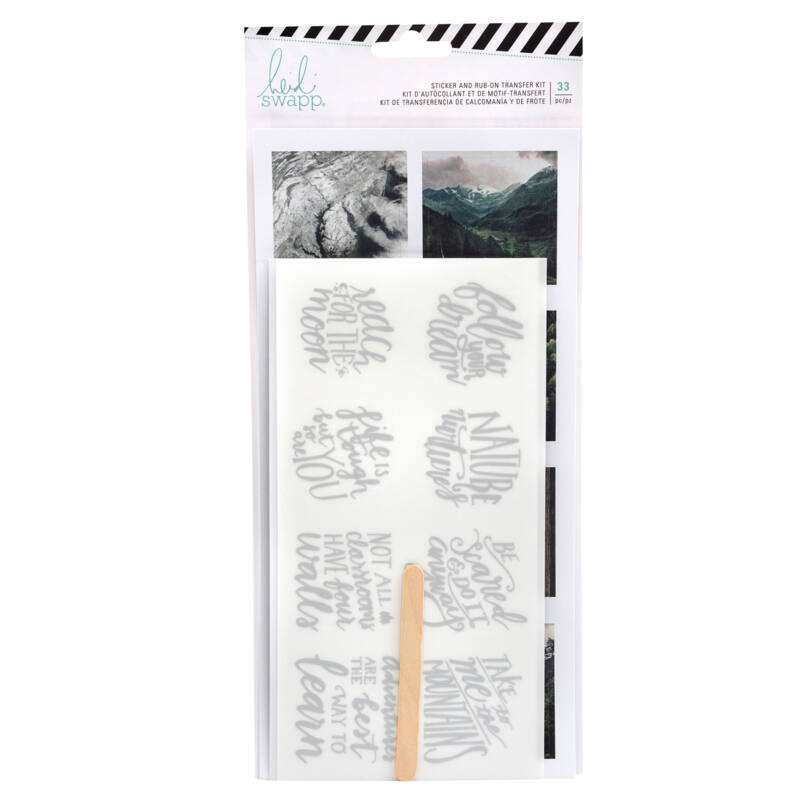 Heidi Swapp - Wolf Pack Sticker and Rub-On Transfer Kit (33 Piece)