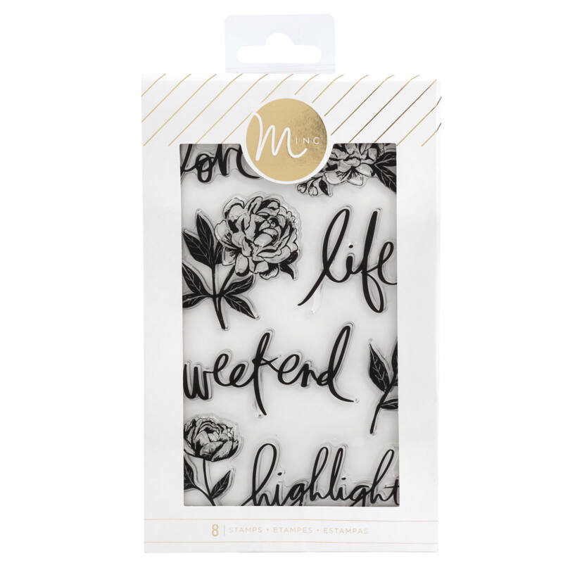 Heidi Swapp - Minc Clear Stamp - Floral (8 Pieces)