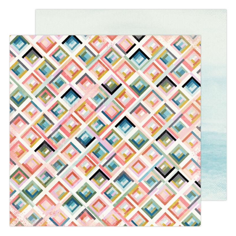Heidi Swapp - Old School 12x12 Paper- City Grid