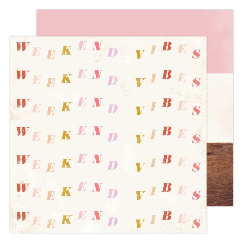 Heidi Swapp - Old School 12x12 Paper- Weekend Vibe