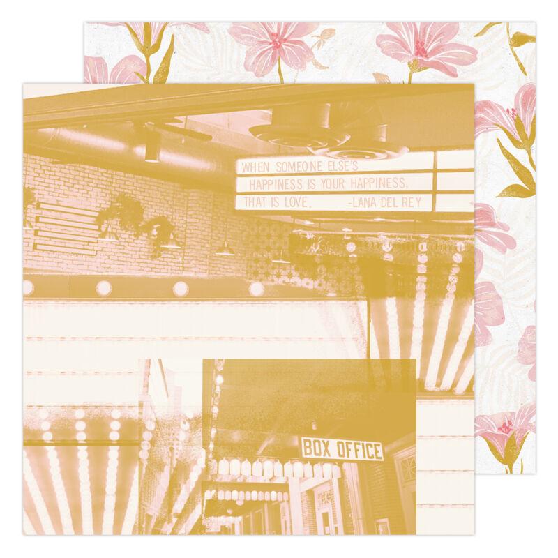 Heidi Swapp - Old School 12x12 Paper- Matinee