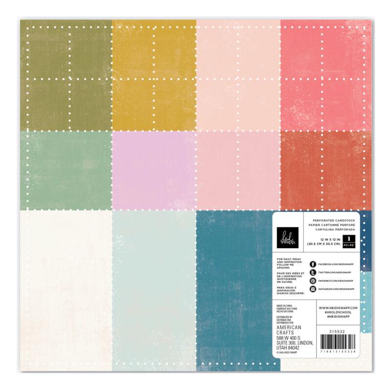 Heidi Swapp - Old School 12x12 Specialty Cardstock Paper