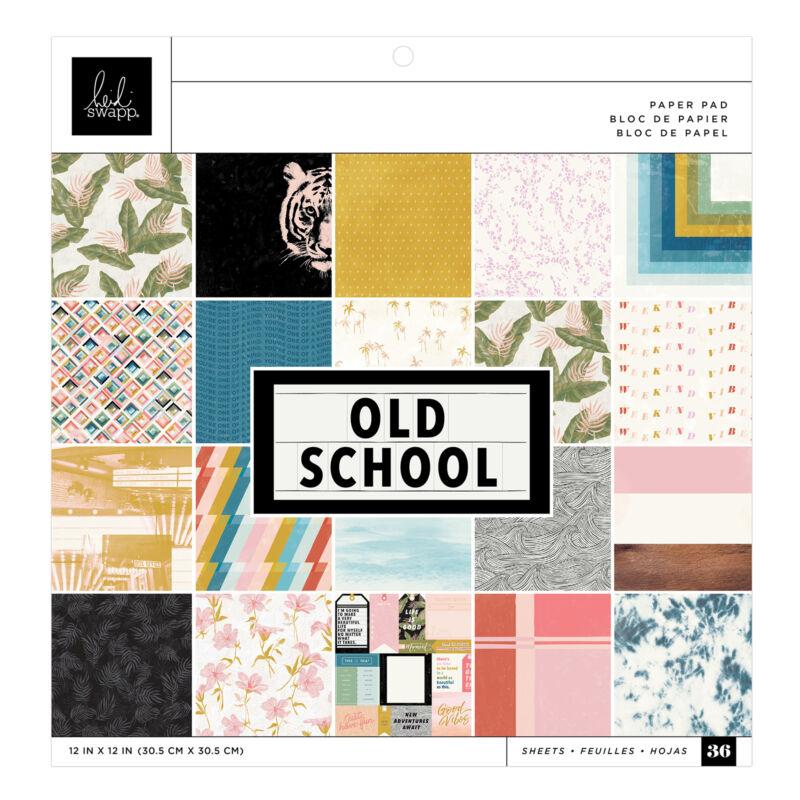 Heidi Swapp - Old School 12x12 Paper Pad (36 Sheets)