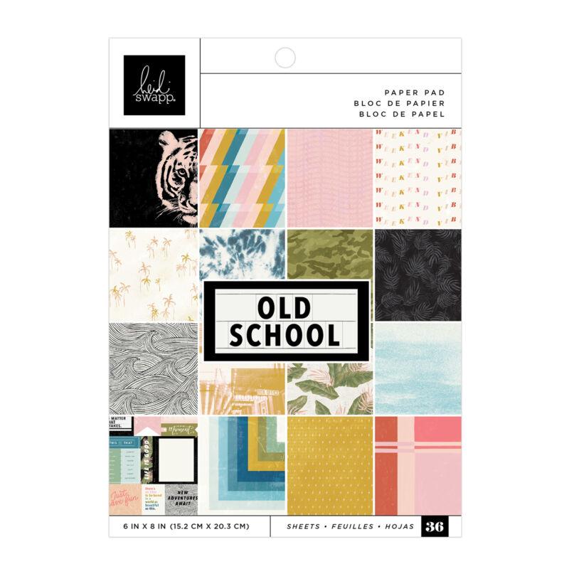 Heidi Swapp - Old School 6x8 Paper Pad (36 Sheets)