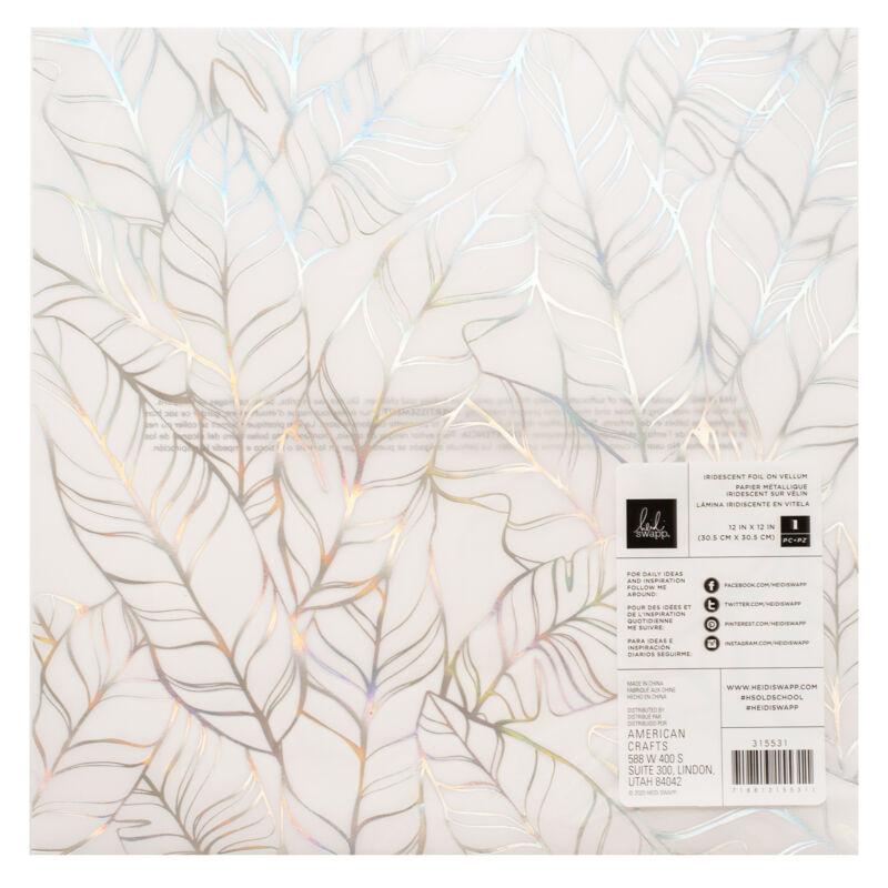 Heidi Swapp - Old School 12x12 különlges vellum papír