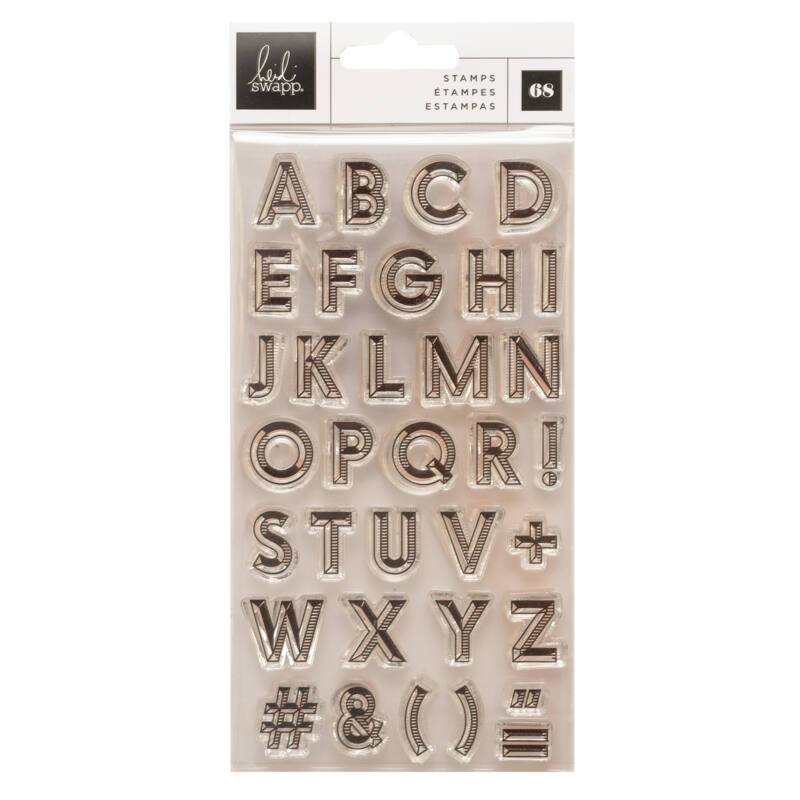 Heidi Swapp - Old School Clear Stamps - Alphas (68 Piece)