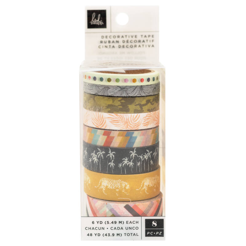Heidi Swapp - Old School Washi Tap (8 Piece)