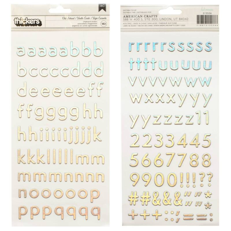 Heidi Swapp - Old School Chipboard Alpha Thickers (183 Piece)