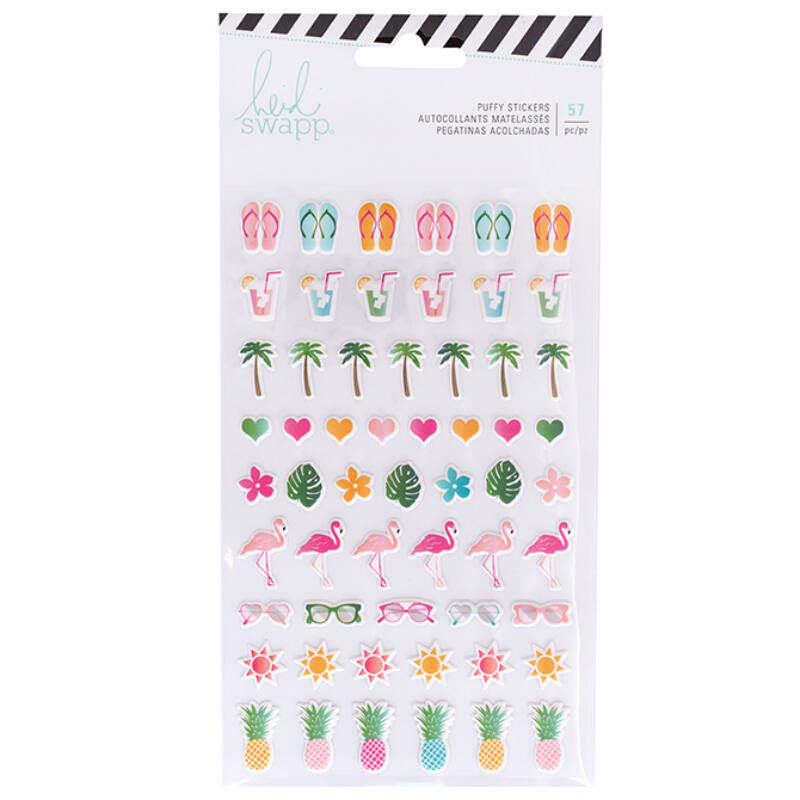 Heidi Swapp - Pineapple Crush Puffy Stickers