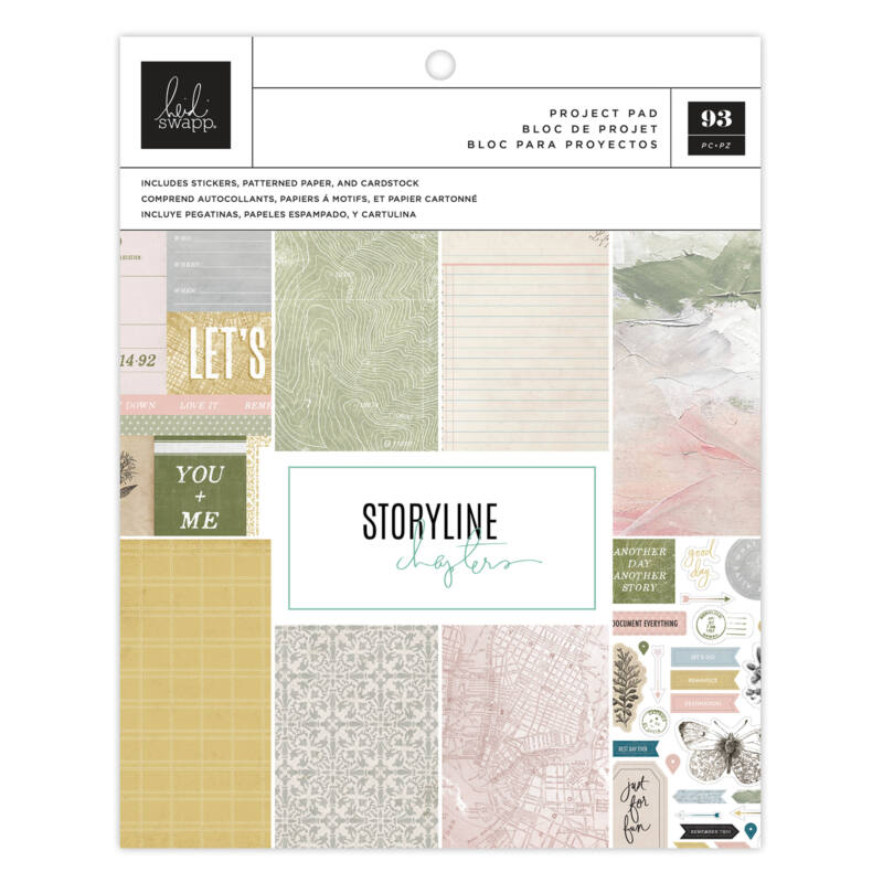 Heidi Swapp - Storyline Chapters 7.5 x 9.5 Project Pad - The Scrapbooker (107 Piece)