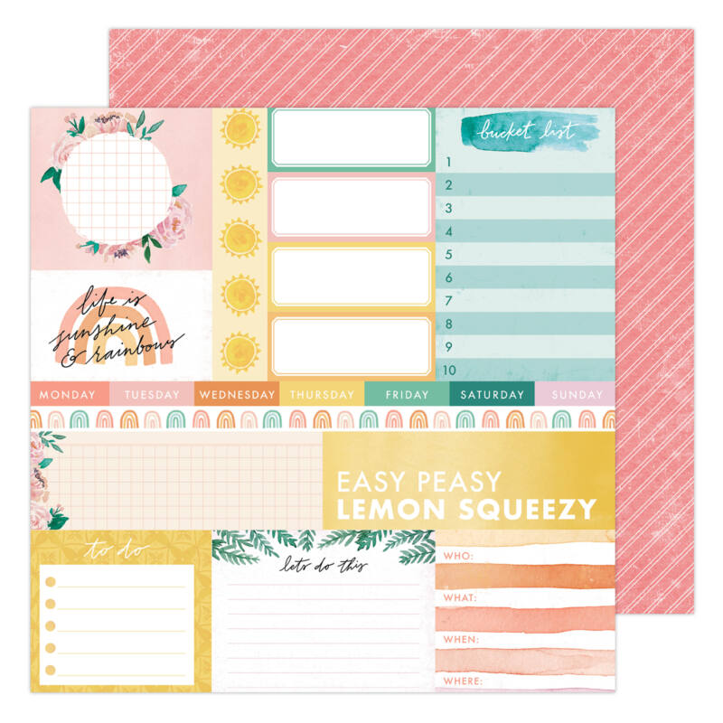 Heidi Swapp - Storyline Chapters 12x12 scrapbook papír - Daily Dose