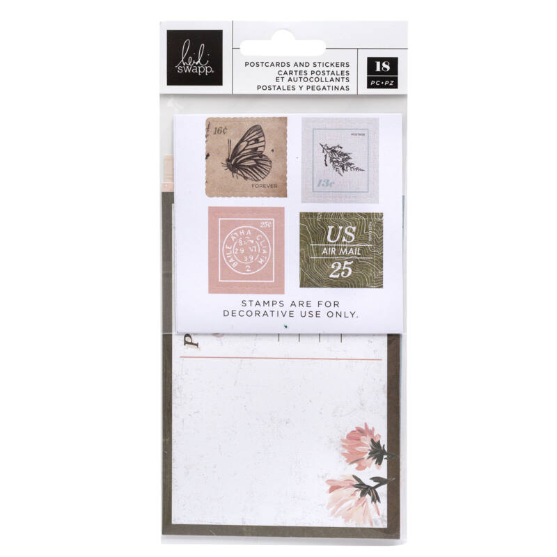 Heidi Swapp - Storyline Chapters Postcards and Stamps (18 Piece)