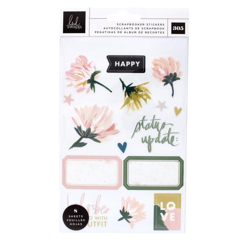 Heidi Swapp - Storyline Chapters Mini Sticker Book - The Scrapbooker (305 Piece)