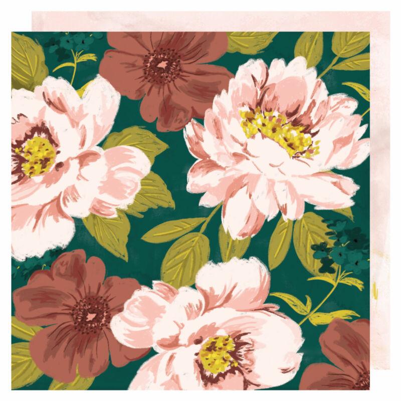 Heidi Swapp - Honey & Spice 12x12 scrapbook papír - La Fleur