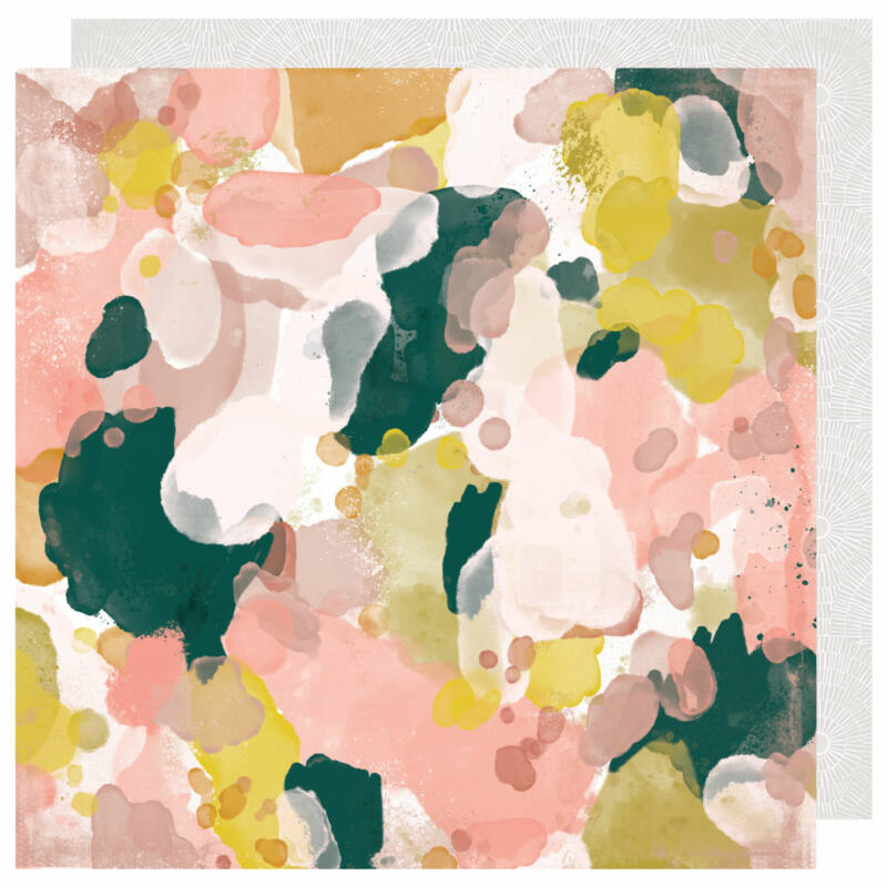 Heidi Swapp - Honey & Spice 12x12 scrapbook papír - Color Flow