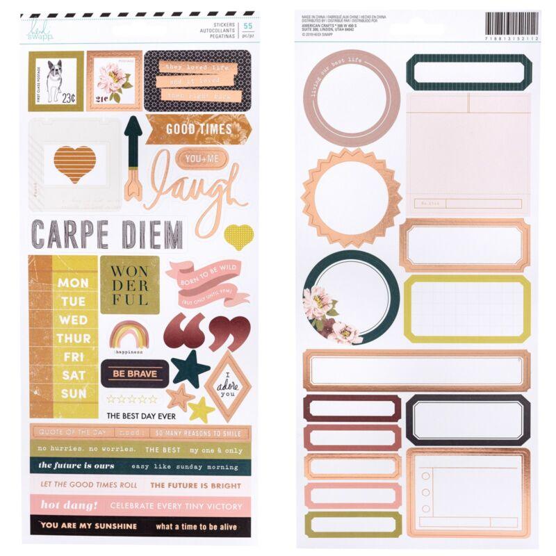 Heidi Swapp - Honey & Spice 6x12 Stickers (55 Piece)